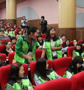 Enthusiastic youth shout YES they want to DREAM BIG!