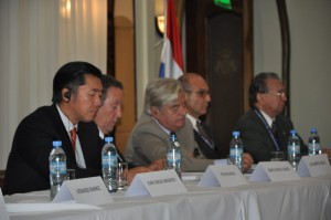 The panel of distinguished media and political leade