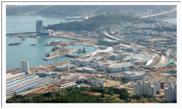 Aerial view of Yeosu.