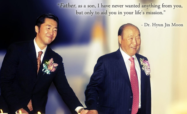 Honoring my father - Rev. Dr. Sun Myung Moon