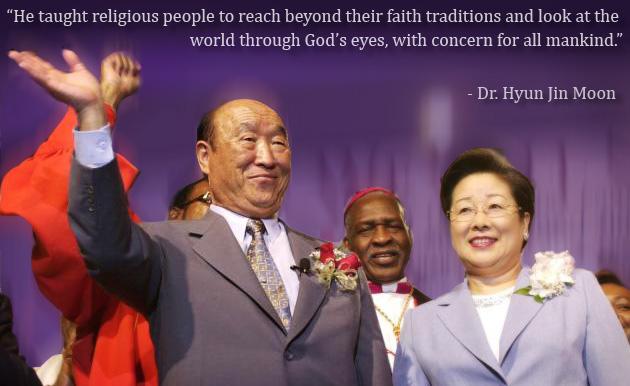 Rev. Dr. Sun Myung Moon - Work of Interfaith