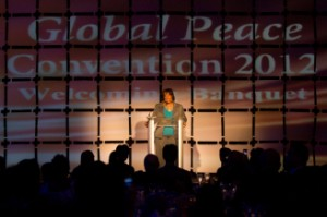 Bernice King , opening banquet of the Global Peace Convention 2012.