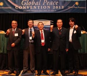 GPC Atlanta 2012, Professor Tae Hwan Kwak  with scholars representing U.S., Japan, China, Russia and Korean perspectives.