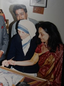 An old picture with close family friend Mother Teresa.