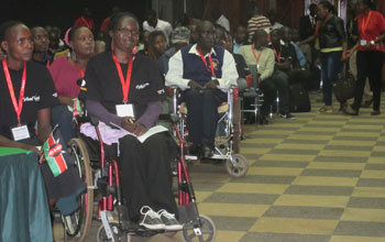 Kenyan youth attended the GPF's National Youth Summit held in Nairobi, Kenya, on February 1.