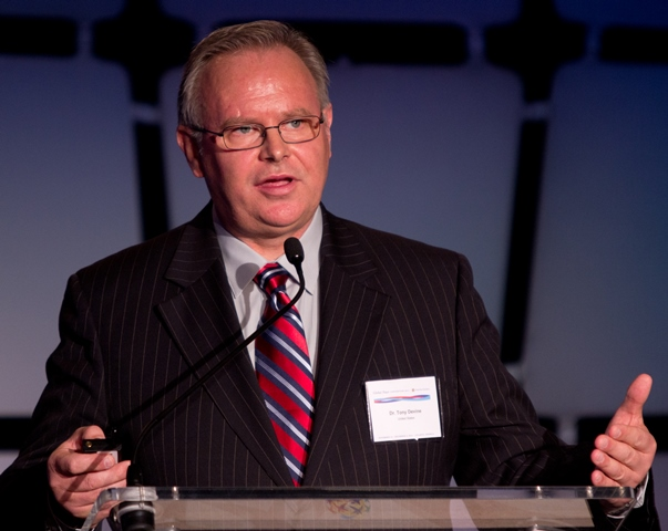 Tony Devine, Executive Director of LeadIn, a Global Peace Festival Foundation (GPFF) initiative, presents at the Global Peace Convention 2012 in Atlanta, Georgia.