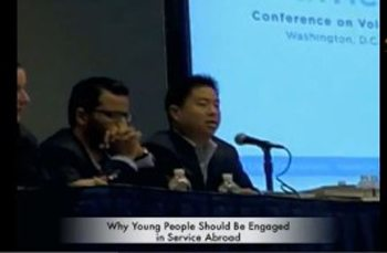 Service Develops Character Says GPYC-USA President at the National Conference on Volunteering and Service