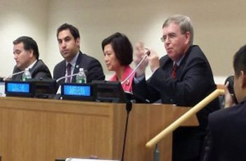 """President of Global Peace Foundation Tells Young Leaders at the United Nations, """"Leadership in the 21st Century must begin as moral leadership."""""""