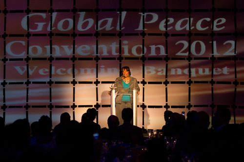 Rev. Bernice King spoke at the Global Peace Convention 2012, and spoke of her father's example and legacy.