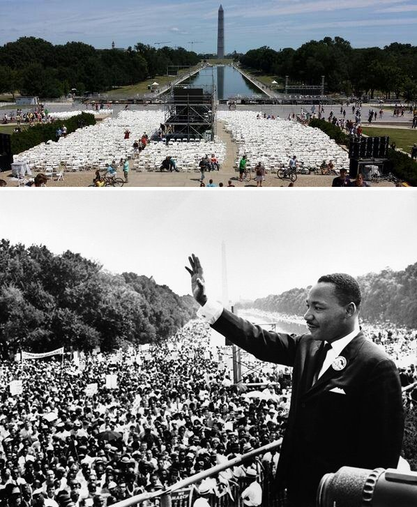 """August 28, 2013 a commemoration will be held in honor of 50 years since Dr. King delivered his stirring """"I have a dream"""" speech from the steps of the Lincoln Memorial. (credit to usa.gov)"""