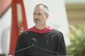 Steve Jobs delivered the commencement address at Stanford University in 2005.