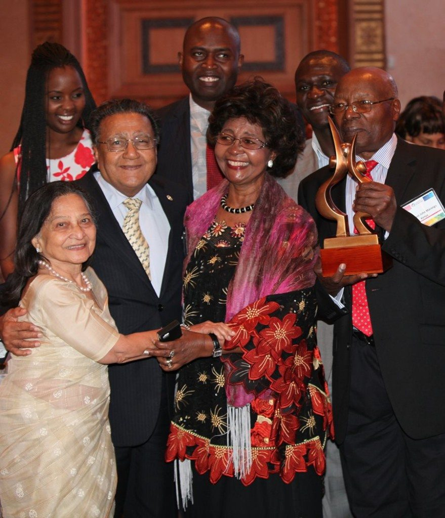 Professor Leah Marangu received the 2013 Global Peace Award for Strengthening Families for her pioneering work in the areas of ethics and character development for youth in schools in Kenya.