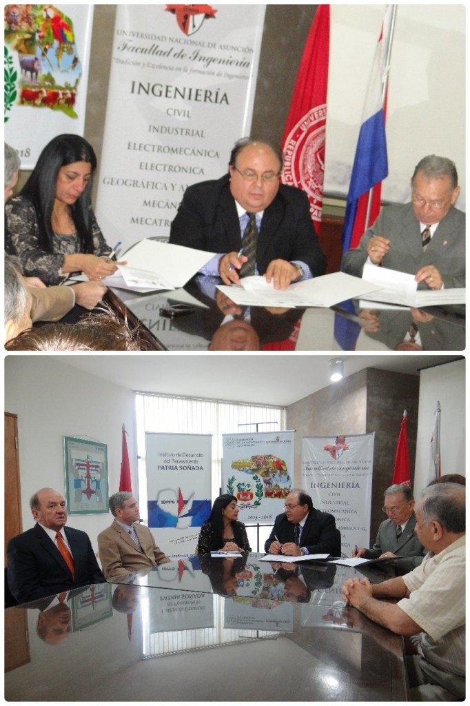Top left to right: Alto Paraguay Governor, Marlene Ocampos, Professor Isacio Vallejos Aquino representing the School of Engineering of the National University of Asuncion, Dr. Jose Altamirano, Director of think-tank IDPPS.