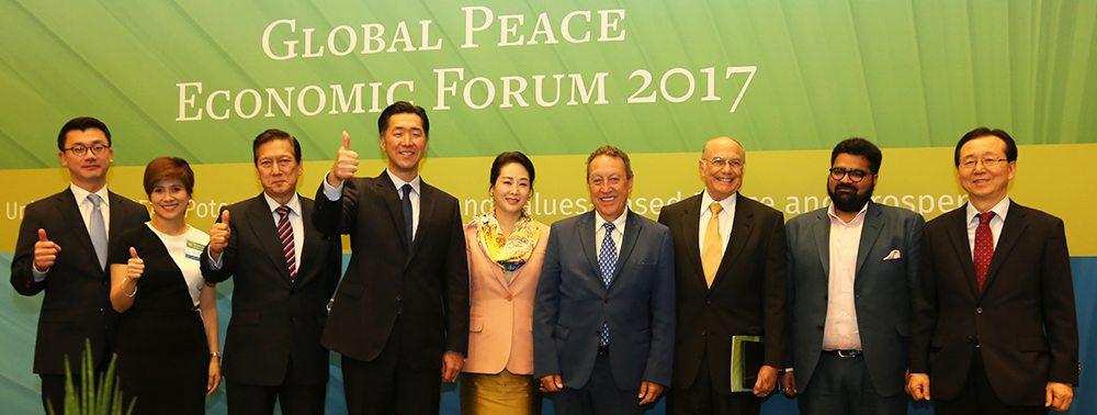 global peace economic forum group photo