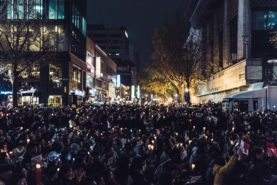 Candlelight protests in South Korea - Nov. 2016