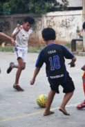 Children at play in Rusunawa Flamboyan