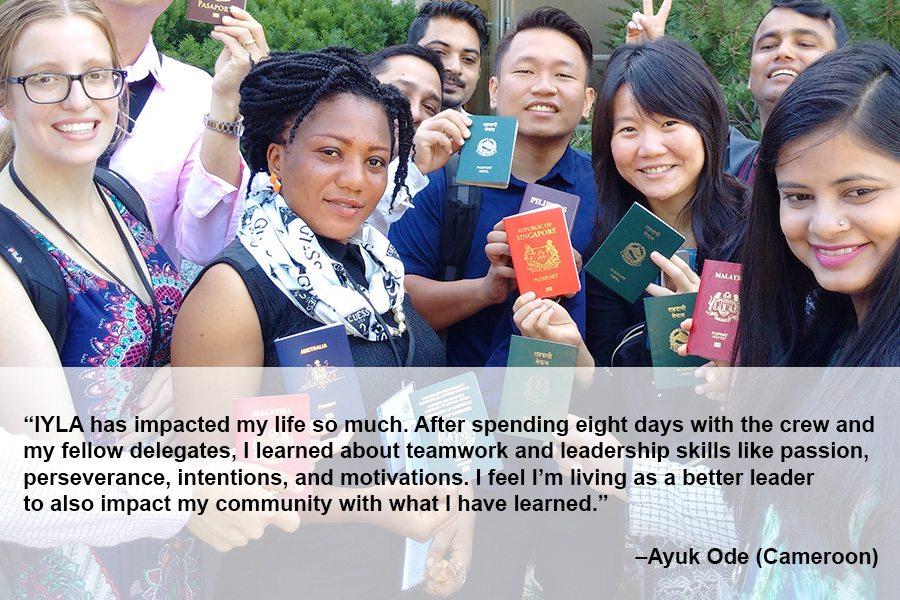 Ayuk Ode with IYLA members