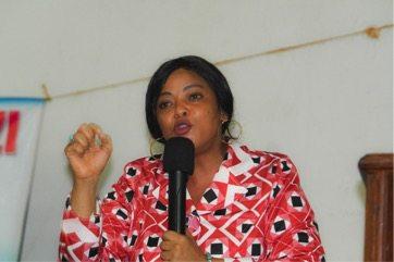District Commissioner Sophia Mjema speaks at the GPW Tanzania leadership forum