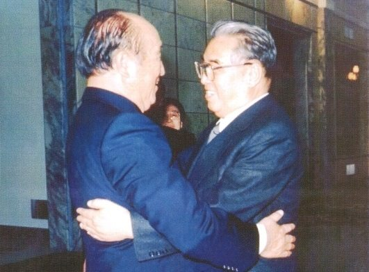 Rev. Sun Myung Moon (left) and Kim Il Sung (right) , Dr. Moon,s Family