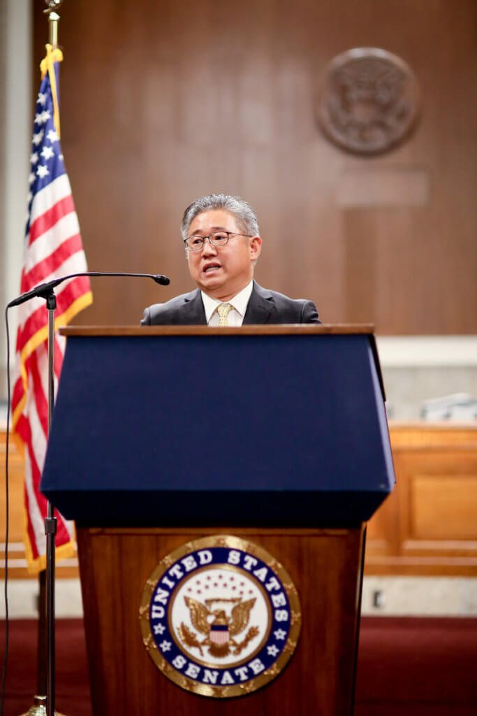 Kenneth Bae at the 2017 International Forum on One Korea in Washington D.C.