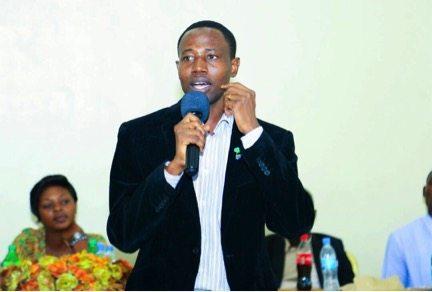 Joel Nanauka talking about moral leadership with Tanzania youth