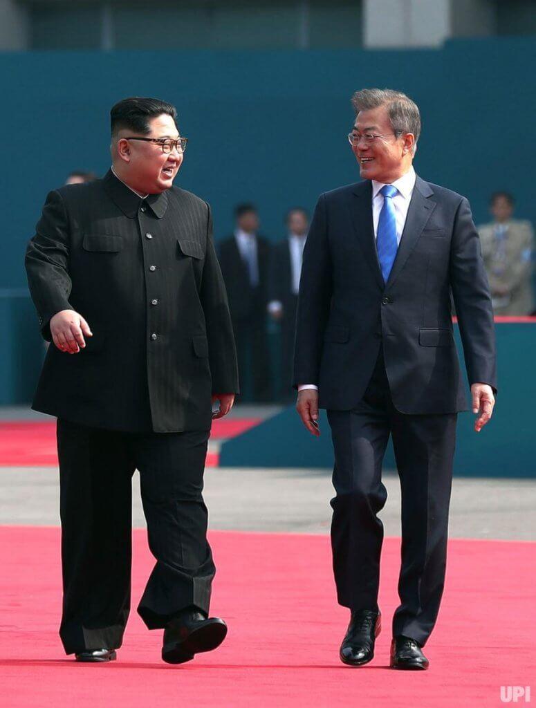 Moon Jae-in and  Kim Jong Un,  Inter-Korea Summit on April 27, 2018