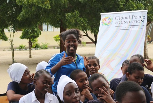 Rabia at youth workshop in Tanzania