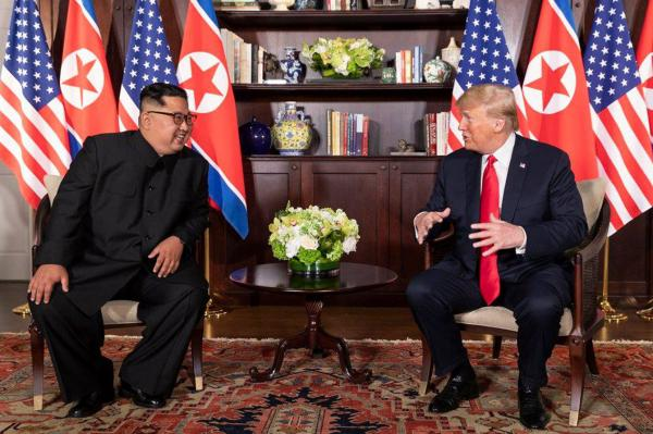 President Donald Trump and North Korean Leader Kim Jong Un - First Meeting