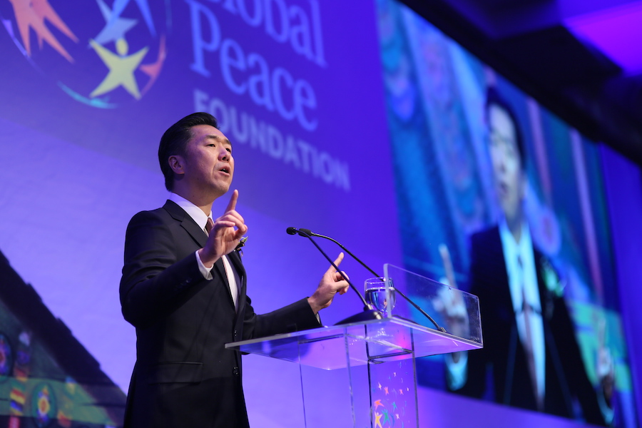 Chairman of Global Peace Foundation, Dr. Hyun Jin P. Moon Addresses Keynote at the Global Peace Convention 2019